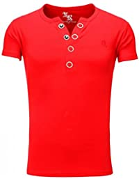 Young and Rich - Tee shirt rouge homme Young and Rich 1-872 Rouge