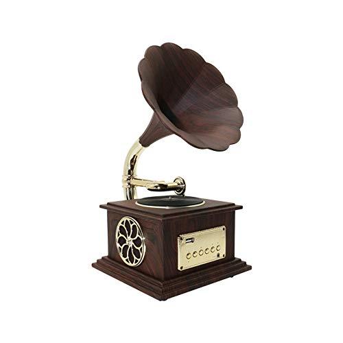Daxiong Ornements de Haut-Parleur de Bureau de Petite pièce de phonographe stéréo Bluetooth à la Maison Bluetooth 20,8 cm * 17,1 cm * 33,3 cm,B,20.8 * 17.1 * 33.3cm