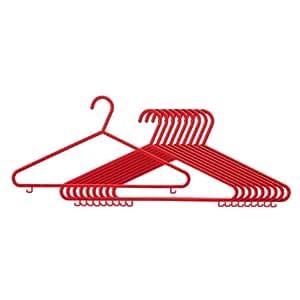 Elegant Lot de 10 cintres pour adulte Couleur Rouge Matière Plastique