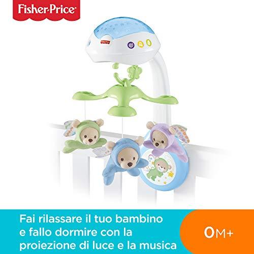 Fisher price giostrina degli orsetti, proiettore di luci e suoni per il lettino dei neonati, cdn41