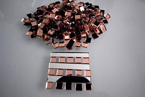 Mosaik Rose Gold Spiegel (Glas) 5 x 5 mm, 2 mm stark, 500 Stück