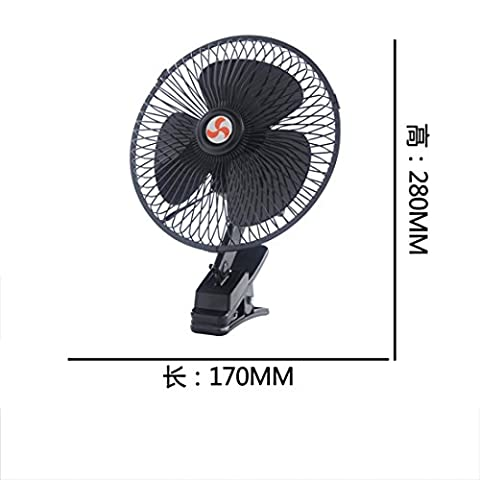 Car electric fans 12v24 v automotive big truck microbus small fan 6 8 10 inch can shake the speed ,17cm black 12V