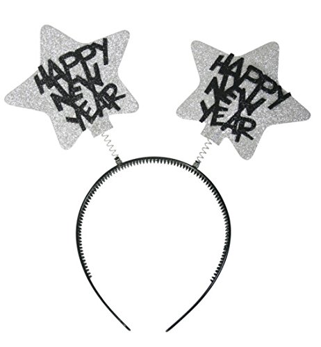Wabbles Silvester metallic silber HAPPY NEW YEAR Haarreif -
