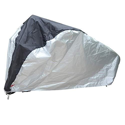 Preisvergleich Produktbild QAZWSX Fahrrad Staubschutz,  Hochwertige 190 T Mountainbike Abdeckung Regen / Sonnenschutz / Staubdicht Sonnenschirm Auto Abdeckung Möbelstaubschutz (Color : Blacksilver,  Size : 190 x 65 x 98 cm)