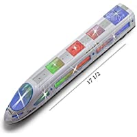 BabyBaba Bump and Go High Speed Bullet Train Toy 3D Lighting and Musical Fun Sounds