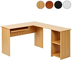 Miadomodo bureau informatique d 39 angle table d 39 ordinateur 135 5 x 11 - Bureau d ordinateur d angle ...