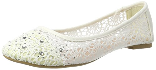 Jane Klain Damen 221 860 Geschlossene Ballerinas, Weiß (White), 38 ... b6c40f8f78