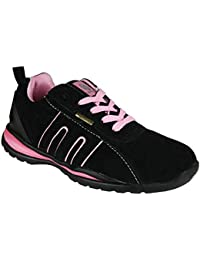 BARGAINS-GALORE Ladies Safety Boot Steel Toe Caps Ankle Trainers Hiking  Shoes Size 3- d61eddab1f