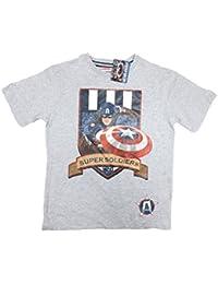 Disney , 5603691753962 - Camiseta para niños, color capitan america , talla 7/8Y