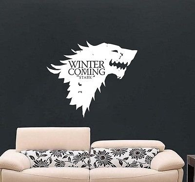 De Juego De Tronos Winter Is Coming Casa Stark Arte de la pared libre