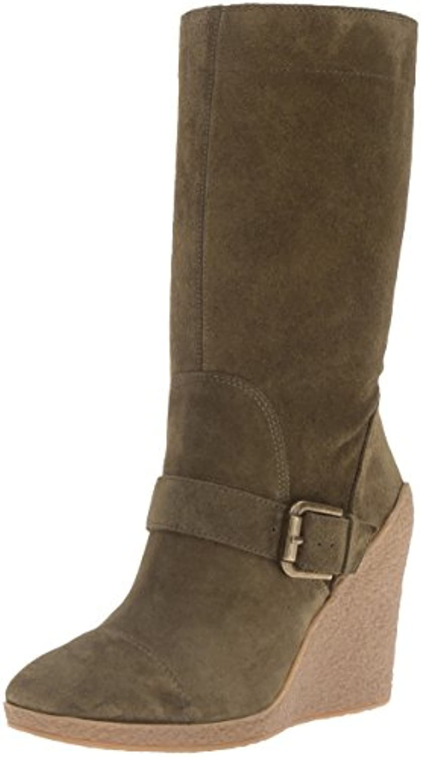 Nine West Darren Damen US 7.5 Grün Mode-Knie Hoch Stiefel