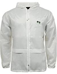 Bowling Cagoule Bowls Kagool Hooded Rain Jacket Lightweight Showerproof Logo (Large, White)