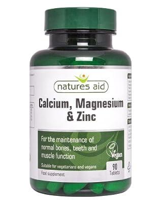 Natures Aid Calcium and Magnesium Zinc 90 Capsules from NAVX2