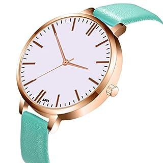 awhao Damen Quarz Business Watch mit Lederband