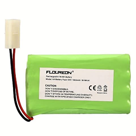 FLOUREON® 9.6V 1800mAh NI-MH Rechargable Battery Replace With RC Car Boat Truggy Truck Helicopter Quadcopter 8 Cell AA Battery Group With Tamiya Plug Remote Control Toy Lighting Gadgets Power Tool Safety Security Facility - 1Pack
