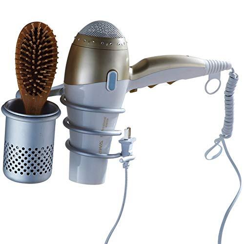 BAIJJ Badregal Durchschlagsfreier Haartrockner, Wandregal für das Bad, Halter für Badablagekanäle. Bad Dusche Caddy hängen (Gebürstetem Haartrockner-halter Nickel)