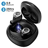Mpow Wireless Earbuds Bluetooth V5.0, [25H Playtime]True Wireless Headphones 3D Stereo Sound IPX5