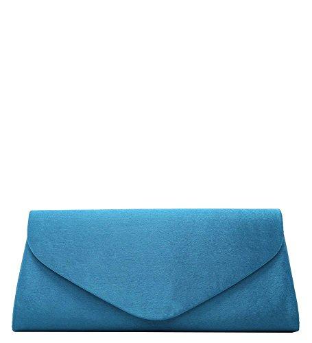Hautefordiva , Damen Clutch gold M blau