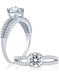 Sukkhi Glimmery Rhodium Plated Cubic Zirconia Stone Studded Solitaire Ring For Women