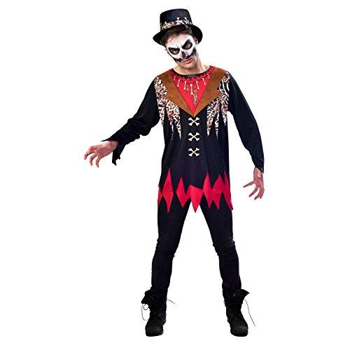 Halloween Hexendoktor Kostüm - Hexendoktor Schamane Halloween Kostüm Herren Amscan