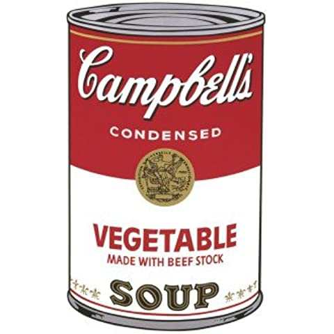 Stampa artistica 'Campbell's Soup I: Vegetable, c.1968', per Andy Warhol, Dimensione: 28 x 36 cm