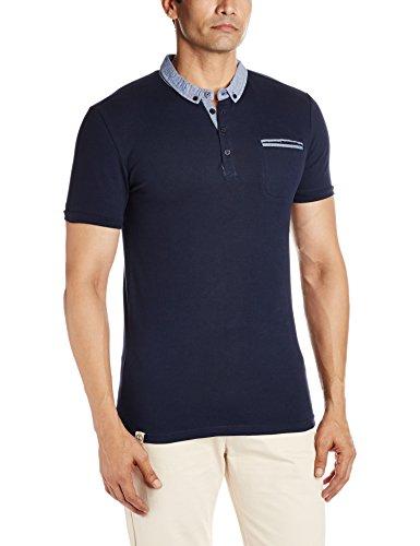 Celio Herren Poloshirt Depetit Blau - Blau (Marineblau)