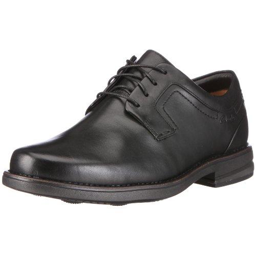 Clarks Carter Air, Chaussures de ville homme Noir (Black Leather)