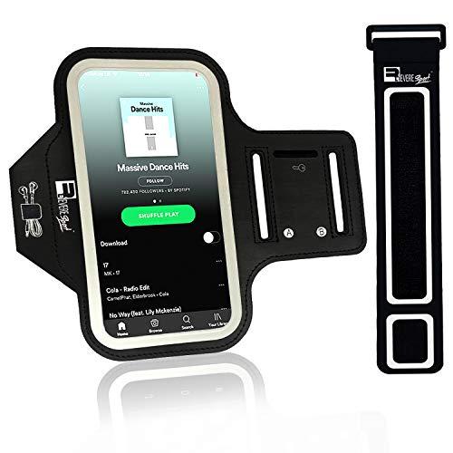 RevereSport iPhone XS Max / 11 Pro Max Sportive Fascia da Braccio. Custodia Porta Telefono per Corridori, Allenamenti, Palestra, Fitness e Sport