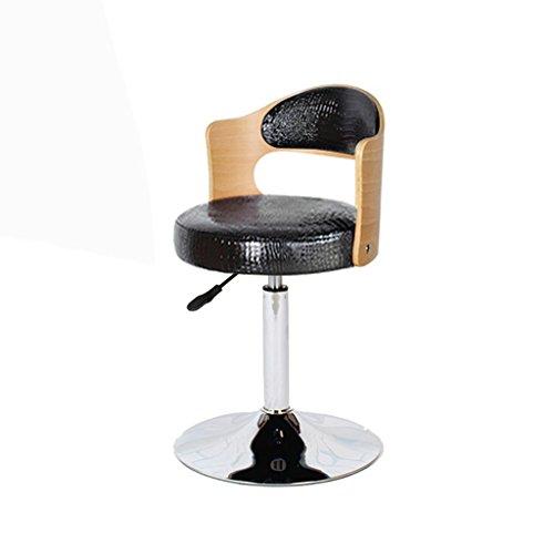 CivilWeaEU- Chaise de fauteuil pivotant de style chaise d'ordinateur de style européen Tabouret de bar chaise pivotante Chaise arrière en bois massif Chaises de réception Tabouret d'ordinateur Chaise