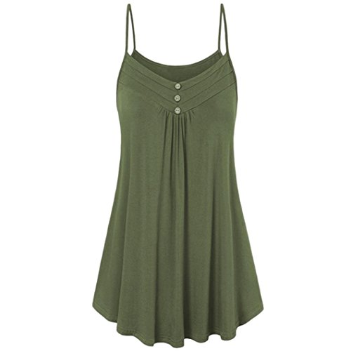 MRULIC Damen Oberteile Helle Farbe mit Knöpfe Geripptes Bluse (EU-46/CN-2XL, Y-Armeegrün) (Jean-jacke Mit Leder ärmel)