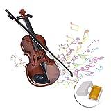 DEWEL Mini Violon Epaulière Violon 4/4 en Bois avec Archet Jouet Educatif pour Les Enfants Bébé Instrument d'Imitation pour 5 Ans ou Plus