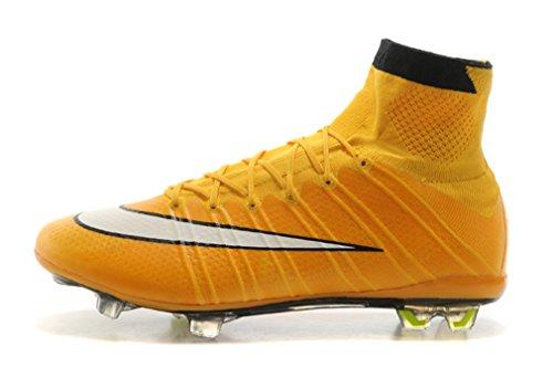 Herren Mercurial X Superfly IV FG-Laser orangewhiteblack Hi Top Fußball Schuhe Fußball Stiefel, Herren, gelb, UK6/EUR39