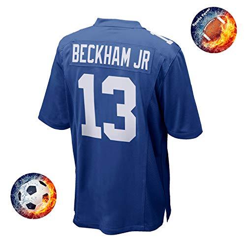 Fabric Fit Kurzarmhemden Herren/Damen Beckham_Jr NO 13 Sportbekleidung Fußball_Training T-Shirt Schnelltrocknend Sport Fans_Rugby Games Trikot, Mann-Blau-XXL