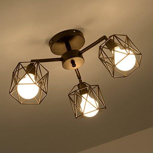Shaped Spider Lights, E27 Flush Mount Traditional / Classic Für Designer MetalLiving Zimmer / Schlafzimmer / Esszimmer / Küche / Studie ( Größe : 3 lamp ) (Designer 3 Light Classics)