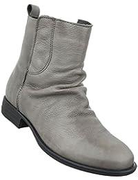 Damen Schuhe Stiefeletten Schnür Boots Used Optik Grau 38 X2mJji