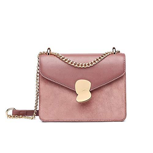 Aijin Cross Body Fashion koreanische Version Kette Tasche einzelne Schulter pu Leder umhängetasche Handtasche für Frauen und mädchen geeignet für romantische Dating (pink) -