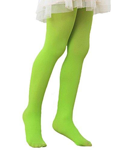Azue Mädchen Strumpfhosen Ballett-Tanzen Feinstrumpfhose Kinder Leggins Volle Länge Schulstrumpfhosen Gamaschenhose leuchtend Grün (Baby Cotton Candy Kostüm)