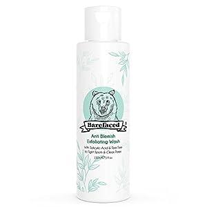 Limpiador facial exfoliante natural antimanchas con árbol de té y ácido salicílico (BHA) – Exfoliador facial orgánico y…