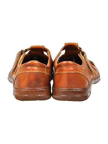 Pour Homme Reel Cuir De Bison En Forme Orthopedique Chaussures Avec Absorption Du Point De Choc Modele 1062 Brun