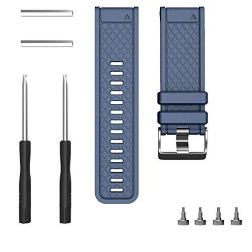 Laicai - cinturino di ricambio per orologio da polso fenix/fenix 2 da 26 mm con cacciavite esagonale, donna, uomo , marina militare