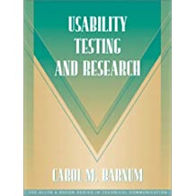 Usability Testing and Research (Part of the Allyn & Bacon Series in Technical Communication)