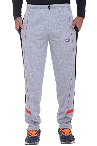 VIMAL Men's Striped Cotton Trackpants (D7_Grey_Large)