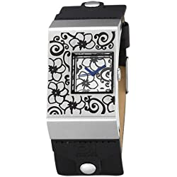 01TheOne Unisex AN02M03 Analog Double Screen Silver Rose Fashion Watch