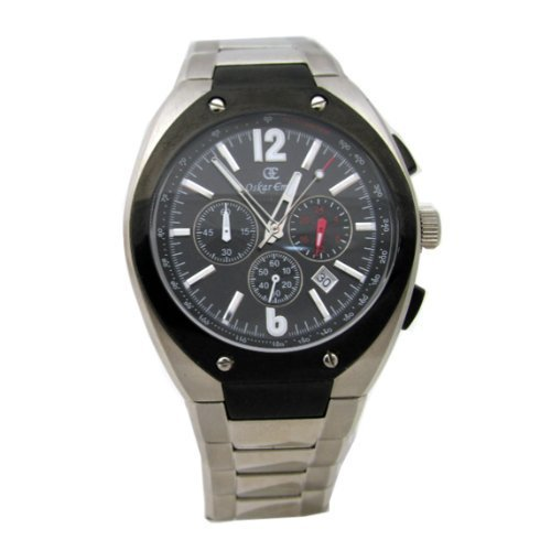 Oskar Emil Lugano Black Gents stainless steel chronograph watch.NOW WITH FREE DELIVERY!