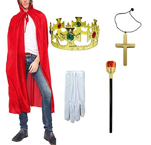 Royal Prince Kostüm - Royal King Prince Herren Kostüm Zubehör