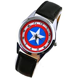 Nueva moda niño WG07Marvel Capitán América Super Hero Metal reloj niño Boy de Navidad