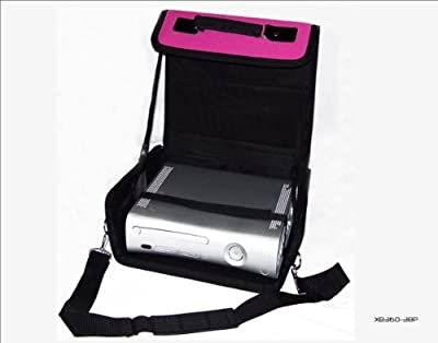 Xbox 360 Pink & Black Deluxe Console Carry Bag/Case. Also for In Car Use. by H & S Products