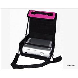 Unbekannt Xbox 360Pink & Schwarz Deluxe Konsole Tragetasche/Fall. Auch für Verwendung im Auto.