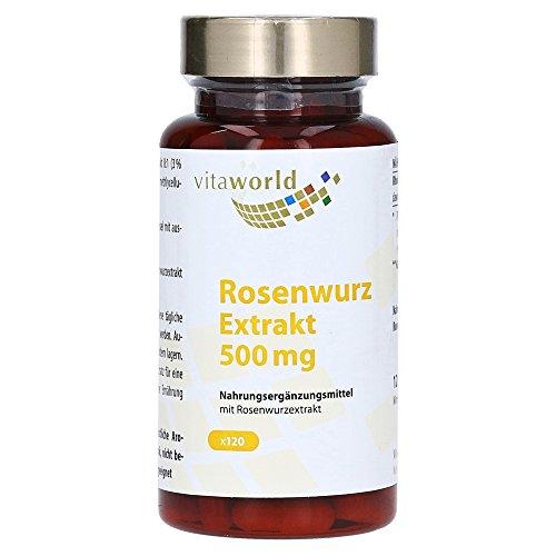 Vita World Rhodiola Rosea Rosenwurz Extrakt 500mg 120 Vegi Kapseln Apotheken Herstellung 3% Rosavin