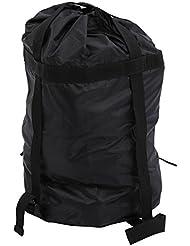 BlueField Ligera bolsa de compresion de Cosas Saco bolso de acampa al aire libre(Negro)